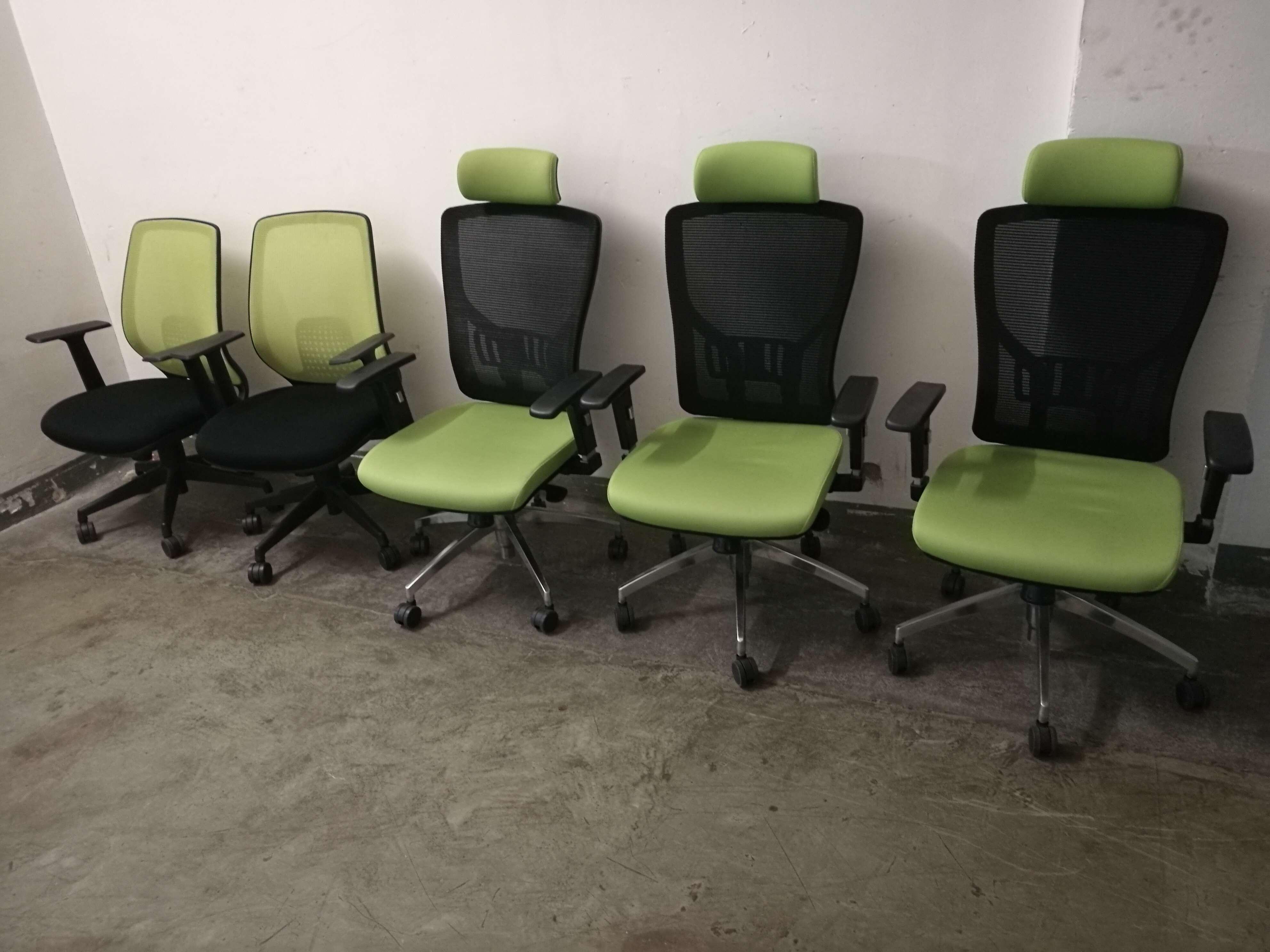 9成新员工椅-绿色系