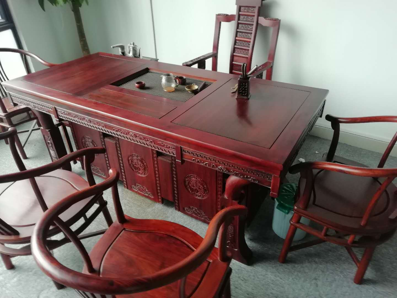 现代简约红木茶桌